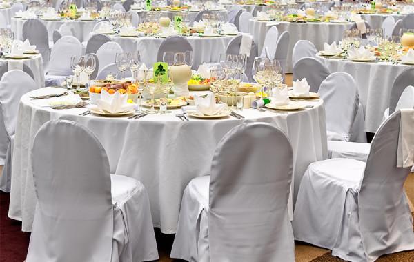 Свадебный зал для большого количества приглашённых