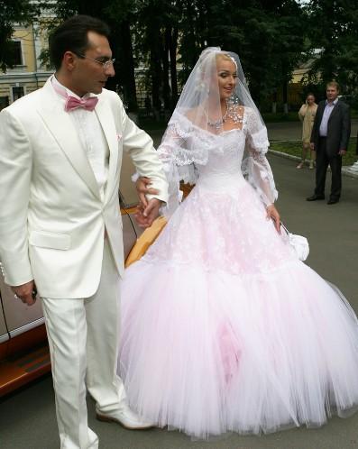 Свадебное платье Анастасии Волочковой 2