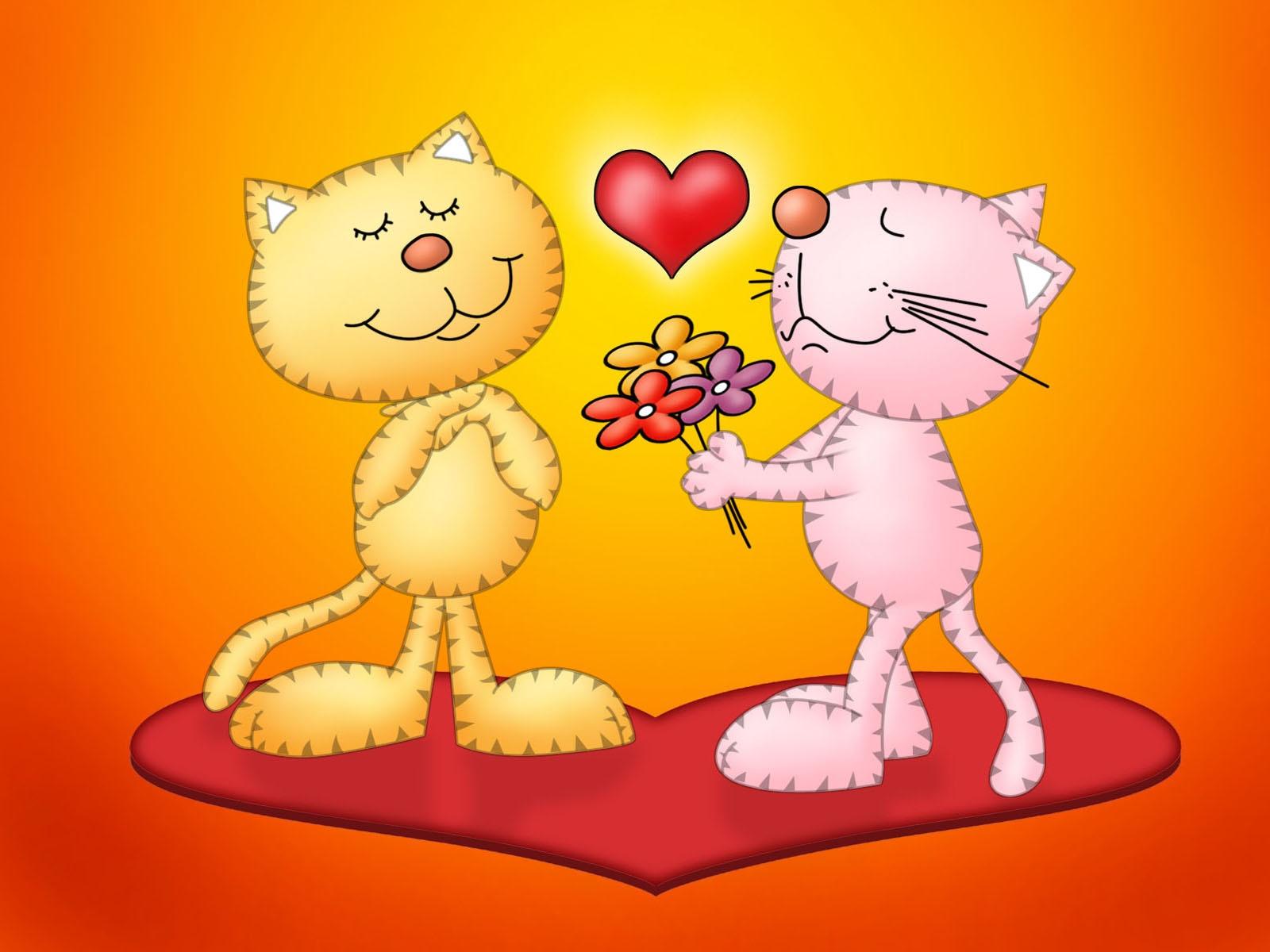 Открытки кошками любовь