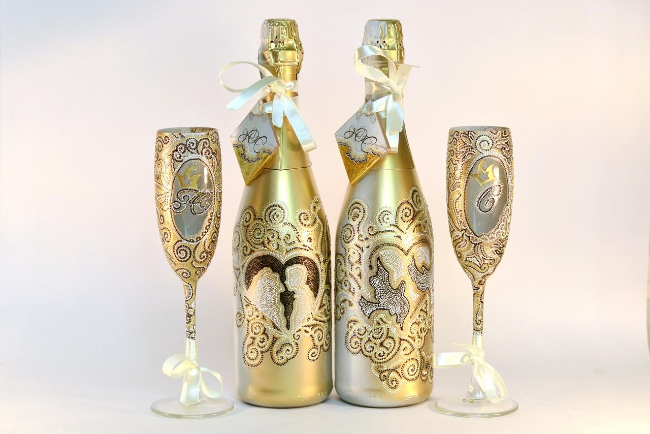 Советы и идеи по оформлению бутылок на свадьбу