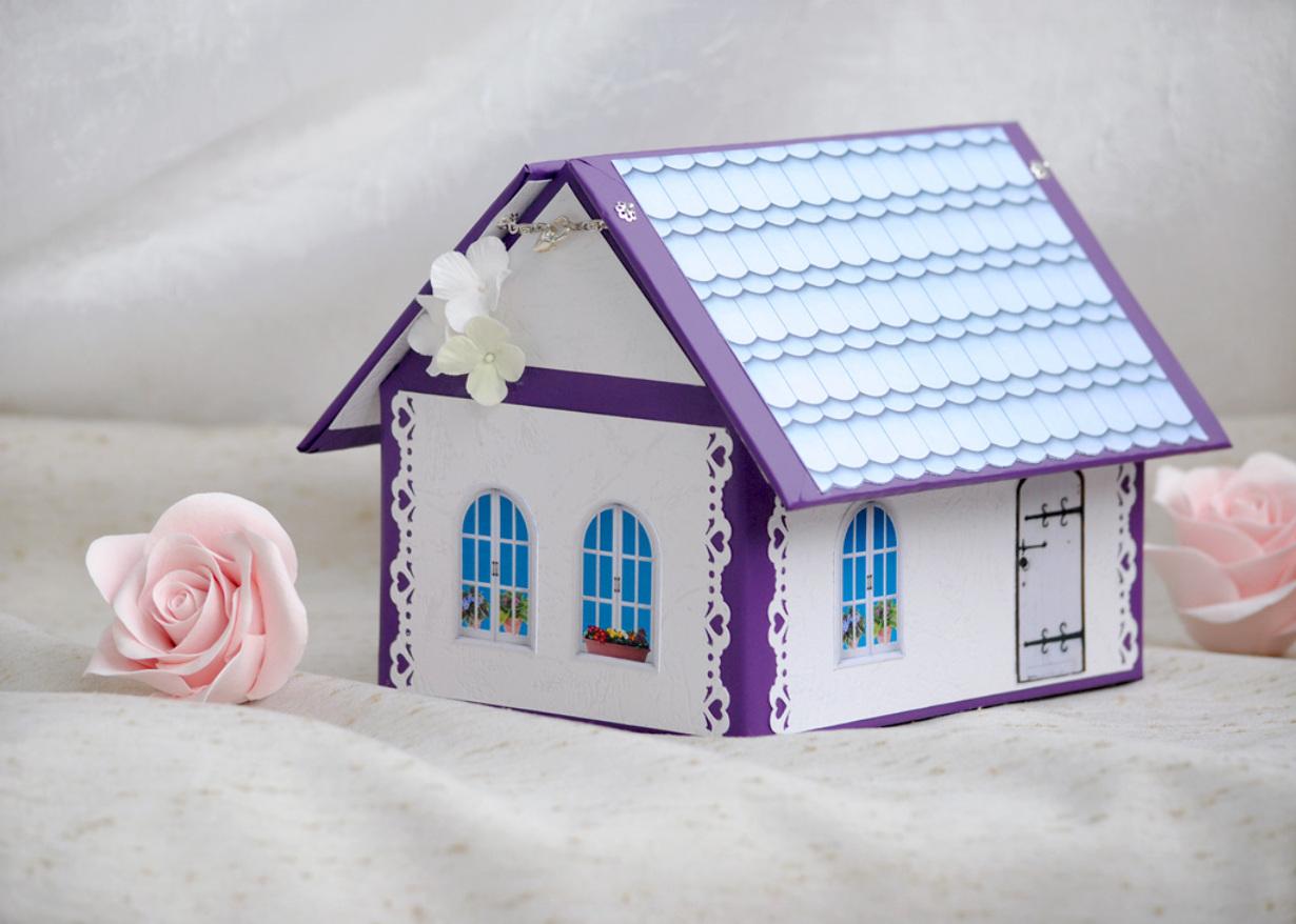 Казна-домик на свадьбу своими руками