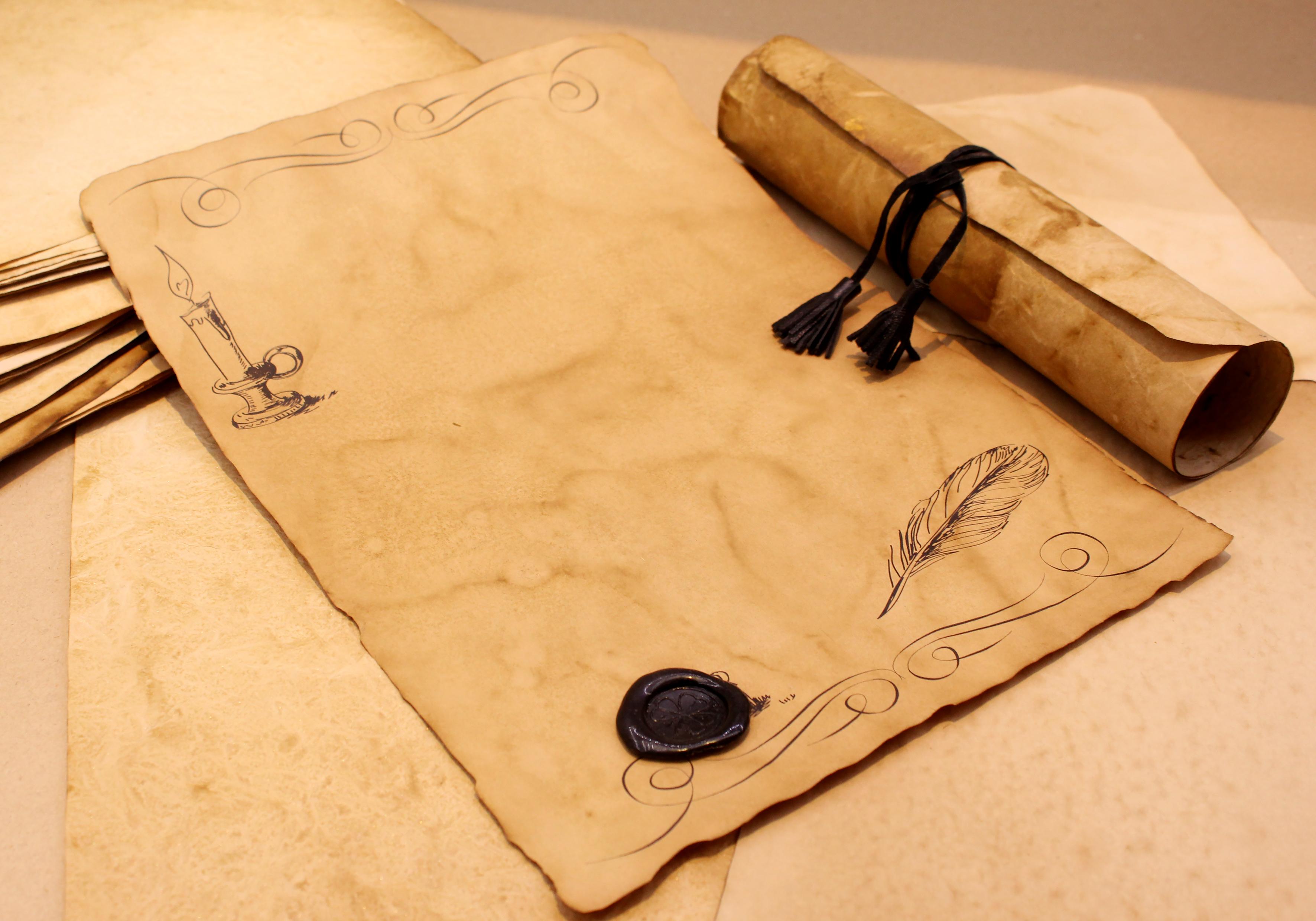 Пергаментная бумага открытки