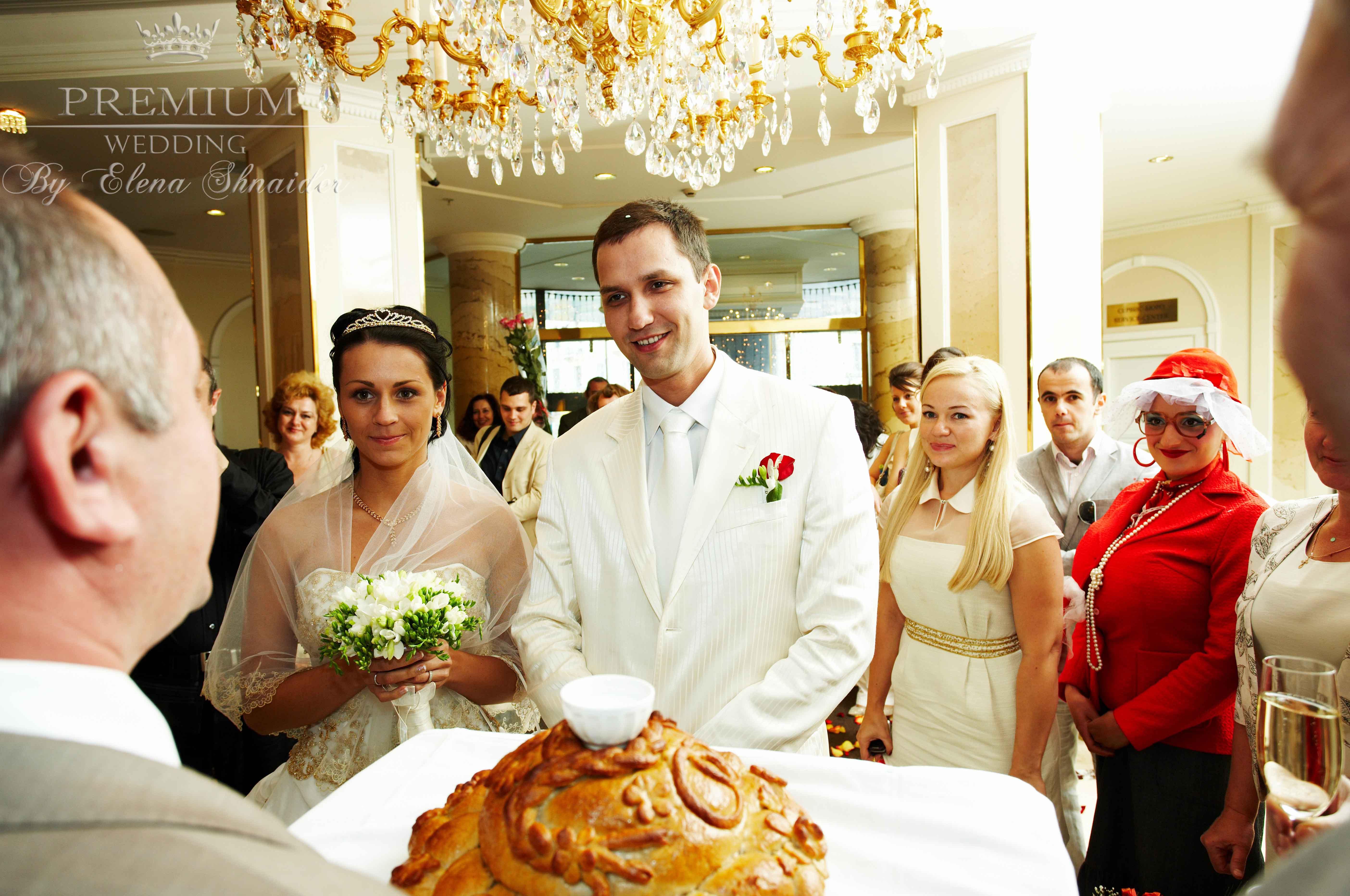 Поздравление на свадьбу от мамы жениха с караваем