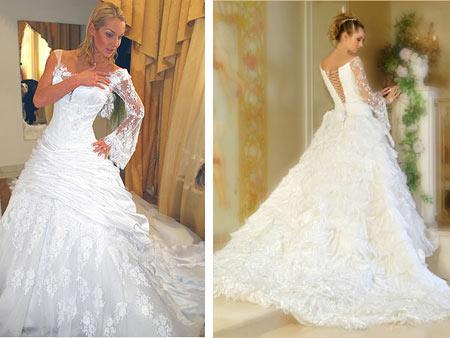 Свадебное платье Анастасии Волочковой