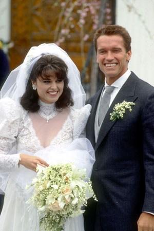 Maria Shriver and Arnold Schwarzenegger wed 4/26/86