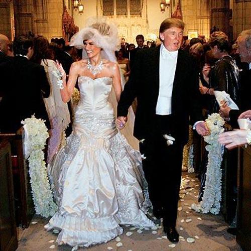 Свадебное платье  Мелани Трамп  от Christian Dior