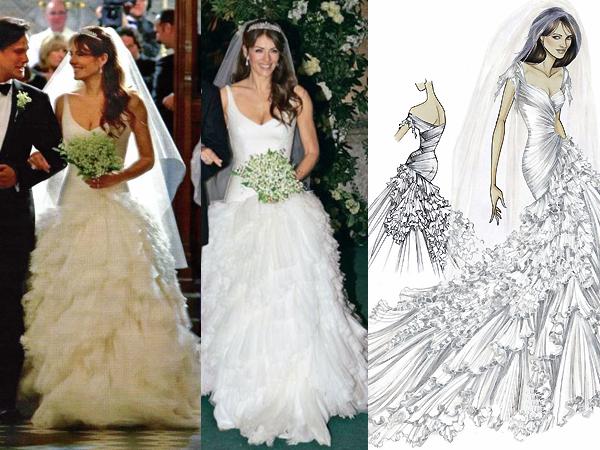 Свадебное платье Элизабет Херли