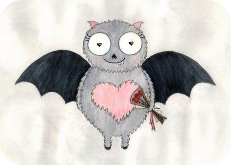 Валентинка - летучая мышь