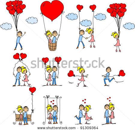 Забавные персонажи для валентинок (1)
