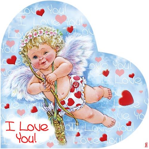 Открытки ангелочки люблю, акварелью