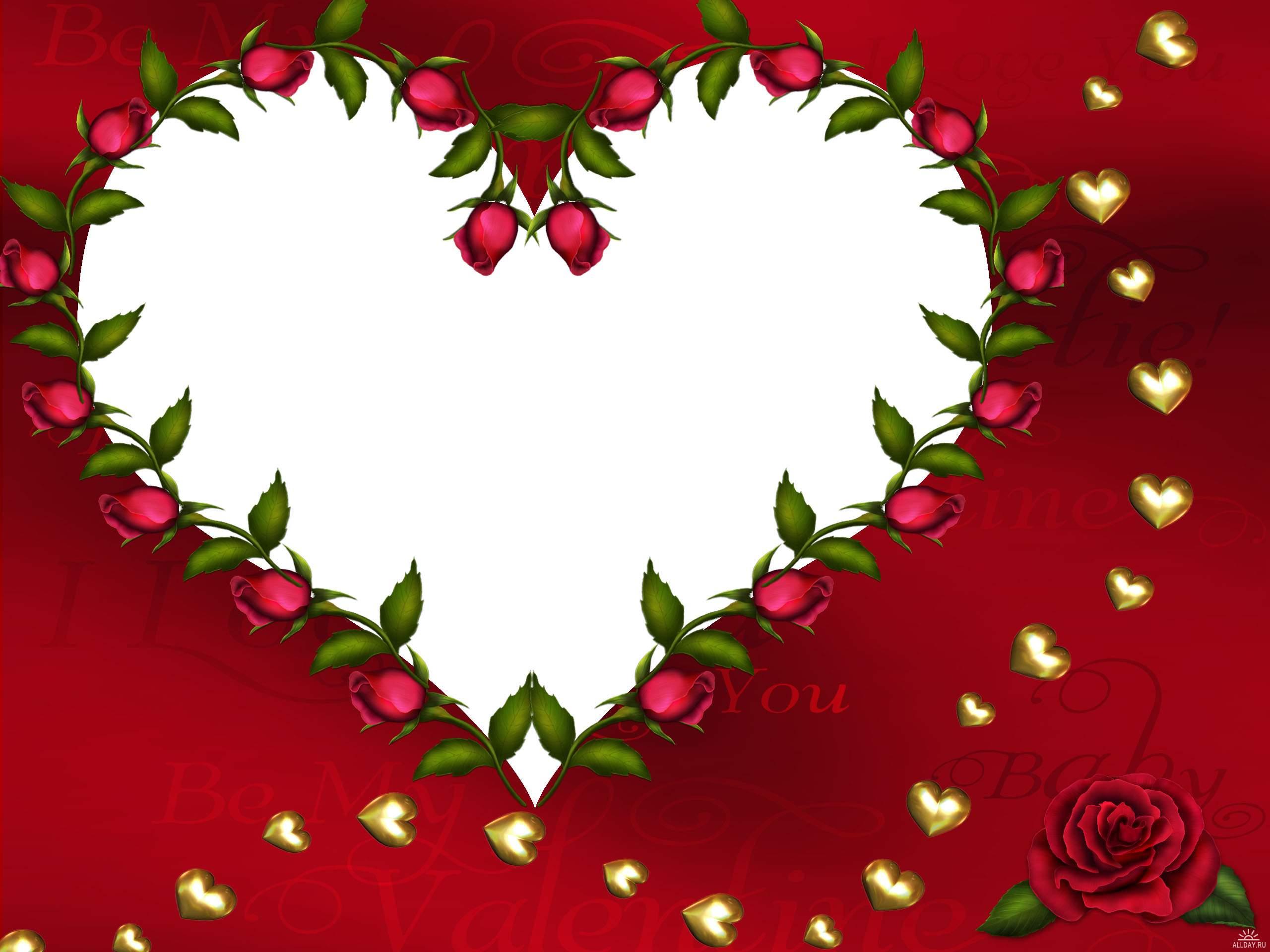 Дню, открытки сердце рамки для