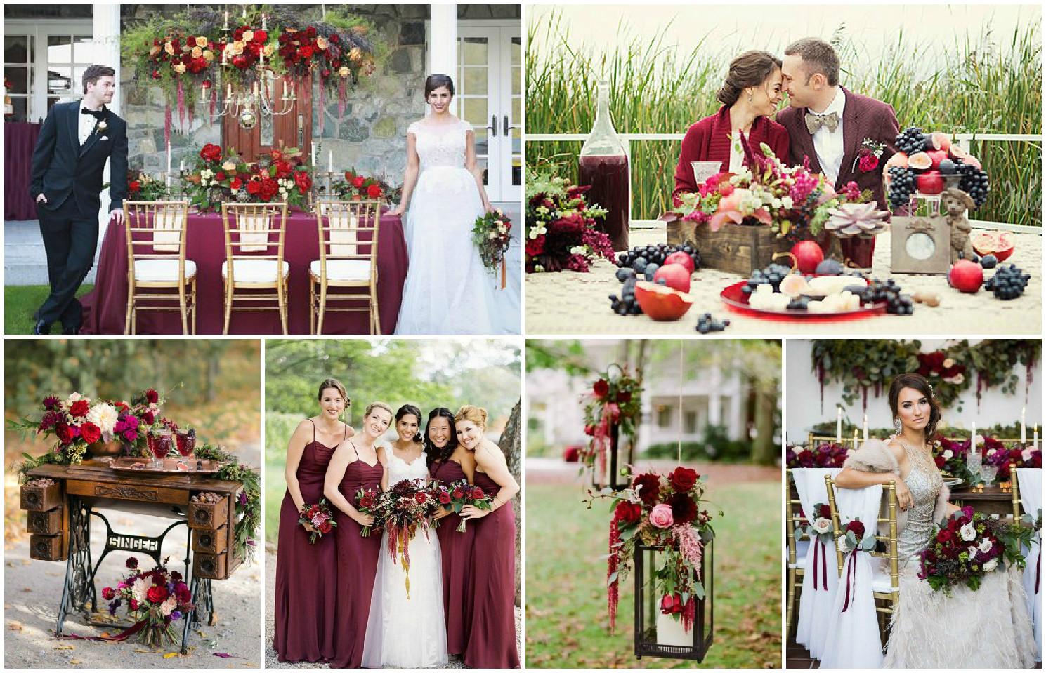 Свадьба в оттенках марсала